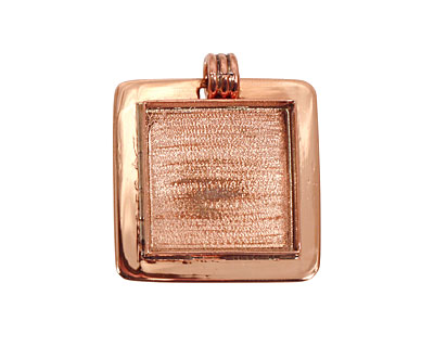 Copper Lipped Square Bezel 19mm