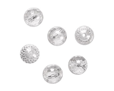 Crystal Clear Faceted Round 10mm