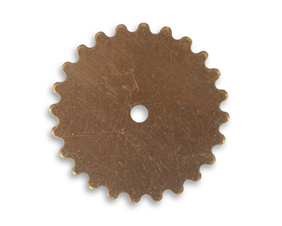 Vintaj Natural Brass Gear 25mm