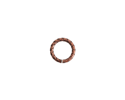 Nunn Design Antique Copper (plated) Textured Jump Ring 9mm, 16 gauge