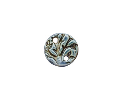 Earthenwood Studio Ceramic Blue Branch Link 18mm