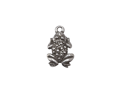 Green Girl Pewter Frog Charm 14x20mm