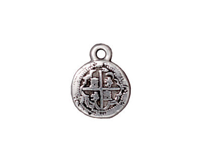 TierraCast Antique Silver (plated) Piece of 8 Charm 13x17mm