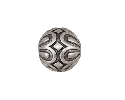 Antique Silver (plated) Daisy Capped Round 15mm