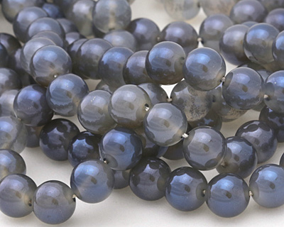 Opalite (glass) w/ Montana Blue Luster Round 8mm