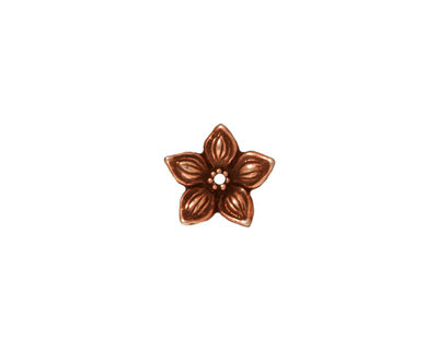TierraCast Antique Copper (plated) Jasmine Bead Cap 2x12mm