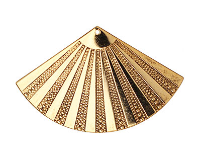 Stampt Antique Gold (plated) Beaded Fan 55x35mm