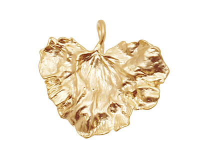 Ezel Findings Gold (plated) Cabbage Leaf Link 30x27mm