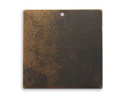Vintaj Natural Brass Square Altered Blank 29mm
