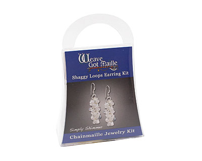 Weave Got Maille Simply Shimmer Shaggy Loops Earring Kit