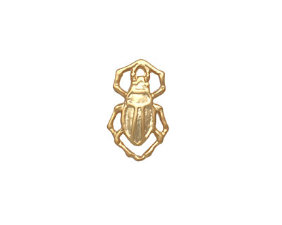 Ezel Findings Gold (plated) Water Bug 10x11mm