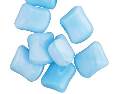 Czech Glass Alice Blue Marbled Twisted Diamond 17x16mm