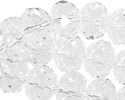 Clear Crystal Faceted Rondelle 14mm