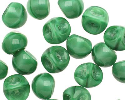 Czech Glass Liquid Emerald Teardrop 9x8mm