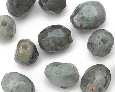 Labradorite Faceted Nugget (Large Hole) 14-16x10-12mm
