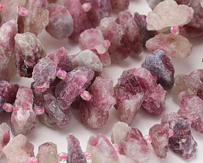 Strawberry Quartz Natural Cut Nugget 3-9x12-22mm