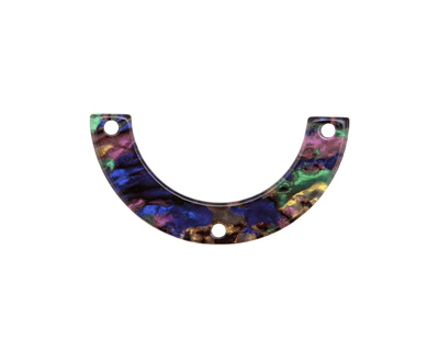 Zola Elements Abalone Acetate U-Shape Y-Connector 30x15mm
