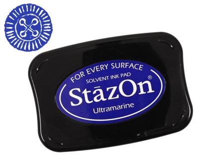 StazOn Ultramarine Solvent Ink Pad