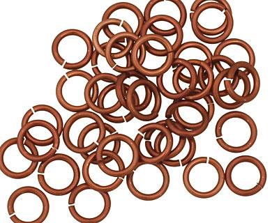 Bronze Anodized Aluminum Jump Ring 7mm, 18 gauge (5mm inside diameter)