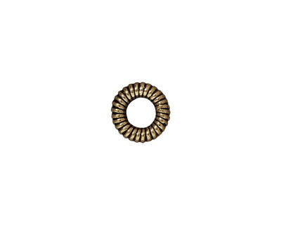 TierraCast Antique Brass (plated) Large Coiled Ring 2x10mm
