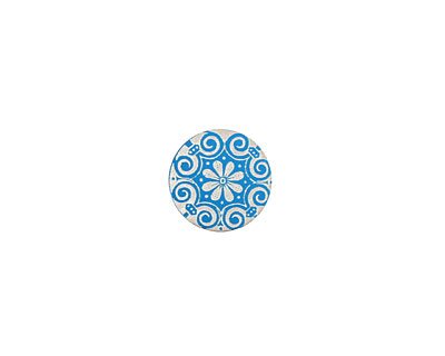 Lillypilly Turquoise Scrolling Daisy Anodized Aluminum Disc 11mm, 24 gauge
