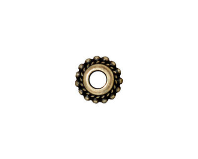 TierraCast Antique Brass (plated) Beaded Twist Euro 6x11mm