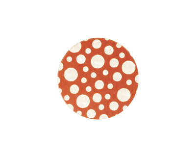 Lillypilly Bronze Scattered Dots Anodized Aluminum Disc 19mm, 24 gauge