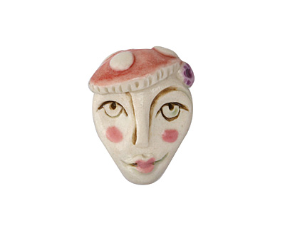 Gaea Ceramic Mushroom Girl 24x30mm