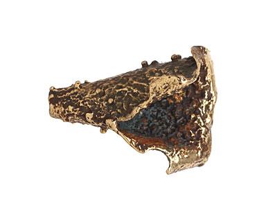 Saki Bronze Textured Cone 26x20mm