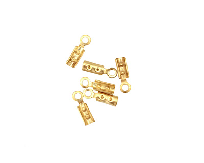 Satin Hamilton Gold (plated) Foldover Crimp End 8x2.5mm