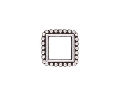 TierraCast Antique Silver (plated) 8mm Square Bead Frame 14mm