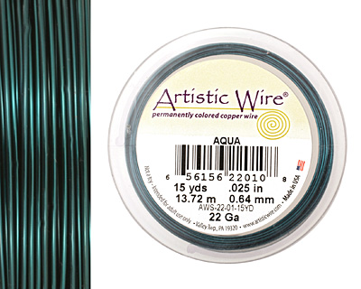 Artistic Wire Aqua 22 gauge, 15 yards