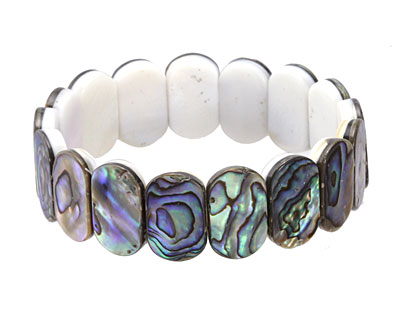Abalone 2-Hole Side Drilled Oval 7.5