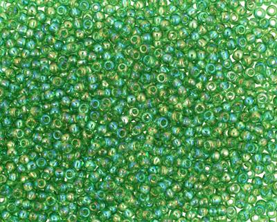 TOHO Transparent Rainbow Peridot Round 11/0 Seed Bead