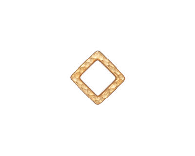 TierraCast Gold (plated) Small Hammered Square Link 10mm
