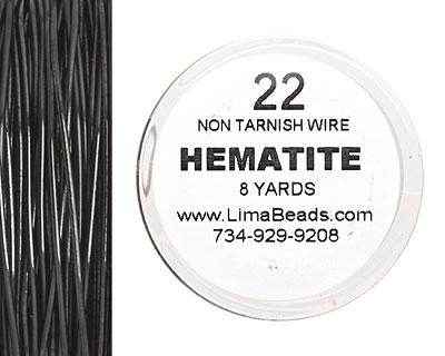 Parawire Hematite 22 gauge, 8 yards