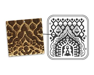 Vintaj DecoEmboss Die India Archway 2 3/8
