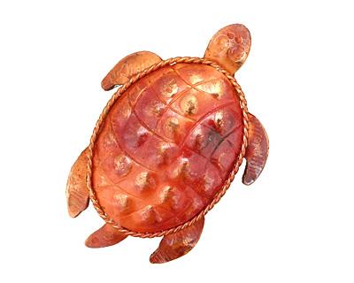 Patricia Healey Copper Sea Turtle Pendant 31x46mm