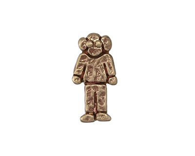 Patricia Healey Bronze Grandpa 10mm Flat Slide 10x20mm