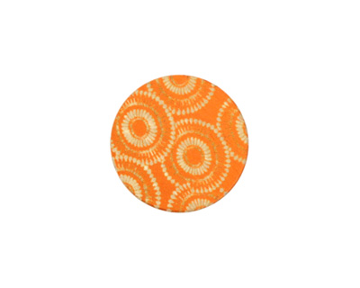 Lillypilly Orange Dandelion Anodized Aluminum Disc 19mm, 24 gauge