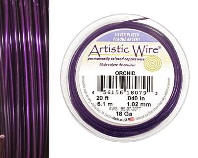 Artistic Wire Silver Plated Orchid 18 gauge, 20 feet