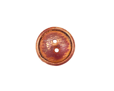 Patricia Healey Copper 2 Hole Grooved Round Button 16mm
