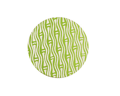 Lillypilly Lime Green Reeds Anodized Aluminum Disc 25mm, 24 gauge
