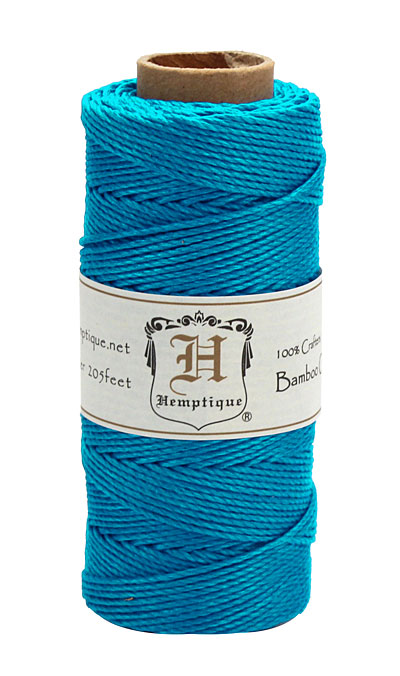 Neon Turquoise Bamboo Cord 20 lb, 205 ft
