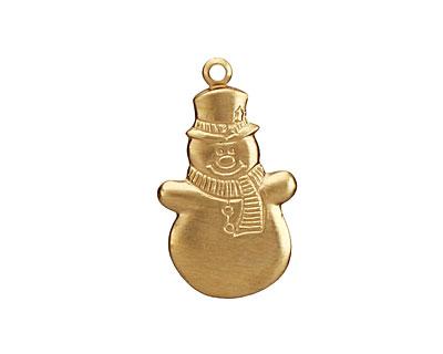 Brass Snowman 15x26