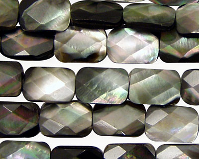 Black Shell Faceted Pillow 12x8mm