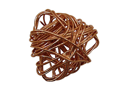 Copper Wire Wrapped Triangle 30mm