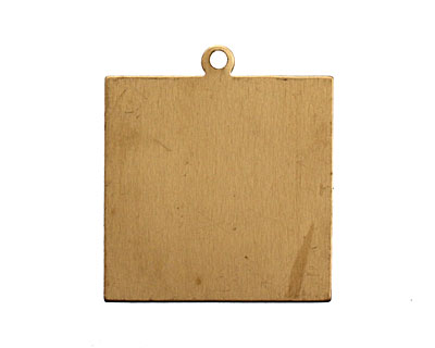 Brass Square Tag Blank 33x38mm