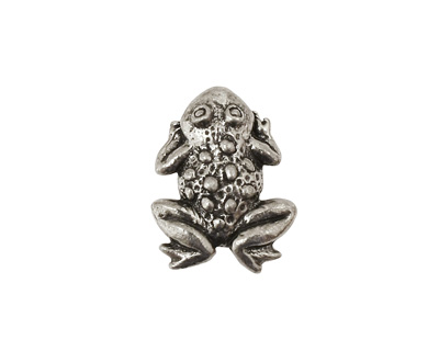 Green Girl Pewter Frog Button 15x19mm