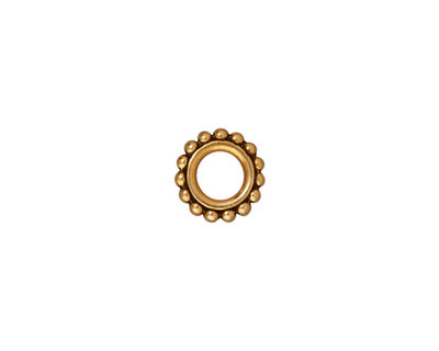 TierraCast Antique Gold (plated) Small Beaded Circle 9mm